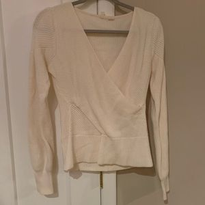 Anthropologie Faux Wrap Sweater